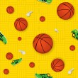 Royalty-Free Stock Vector Image: Basketball Seamless Pattern