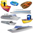 Royalty-Free Stock Vector Image: Boat icon set 2
