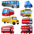 Bus icon set — Stock Vector