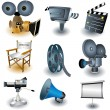 Vector de stock : Movie equipment