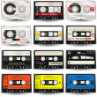 Stock Vector: Cassettes