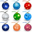 christmas bulbs — Stock Vector