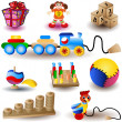 Toy Icons 1 - Stockvectorbeeld