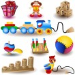 Stock Vector: Toy Icons 1