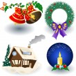 Christmas icons — Stock Vector #2868215