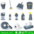 Cleaning icons 2 — Stock Vector #2868234