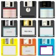 Floppy discs - Stock Vector
