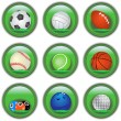 Green sport buttons — Stock Vector