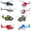 Helicopter icons — Stock Vector