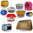 Radio Icons — Stock Vector