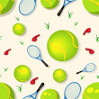 Tennis seamless pattern - 图库矢量图片