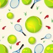 Tennis seamless pattern - Image vectorielle