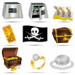 Treasure icons — Stock Vector