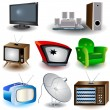 tv icons 2 — Stock Vector