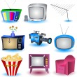 Royalty-Free Stock Imagen vectorial: TV icons