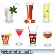 Cocktail icons 2 — Stock Vector