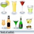 Cocktail icons - Stock Vector