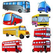 Bus icon set — Stock Vector