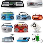 盒式磁带播放器 — 图库矢量图片