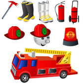 Fireman icons — Stock Vector