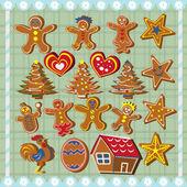 Ginger bread cookies — Stock Vector