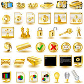 Gold icons — Stock Vector