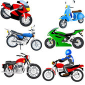 Motorcycle icons — Stock Vector