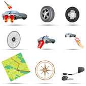 Transport icons 3 — Stock Vector