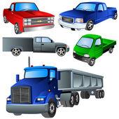 Trucks Ikon Set 2 — Stock Vector
