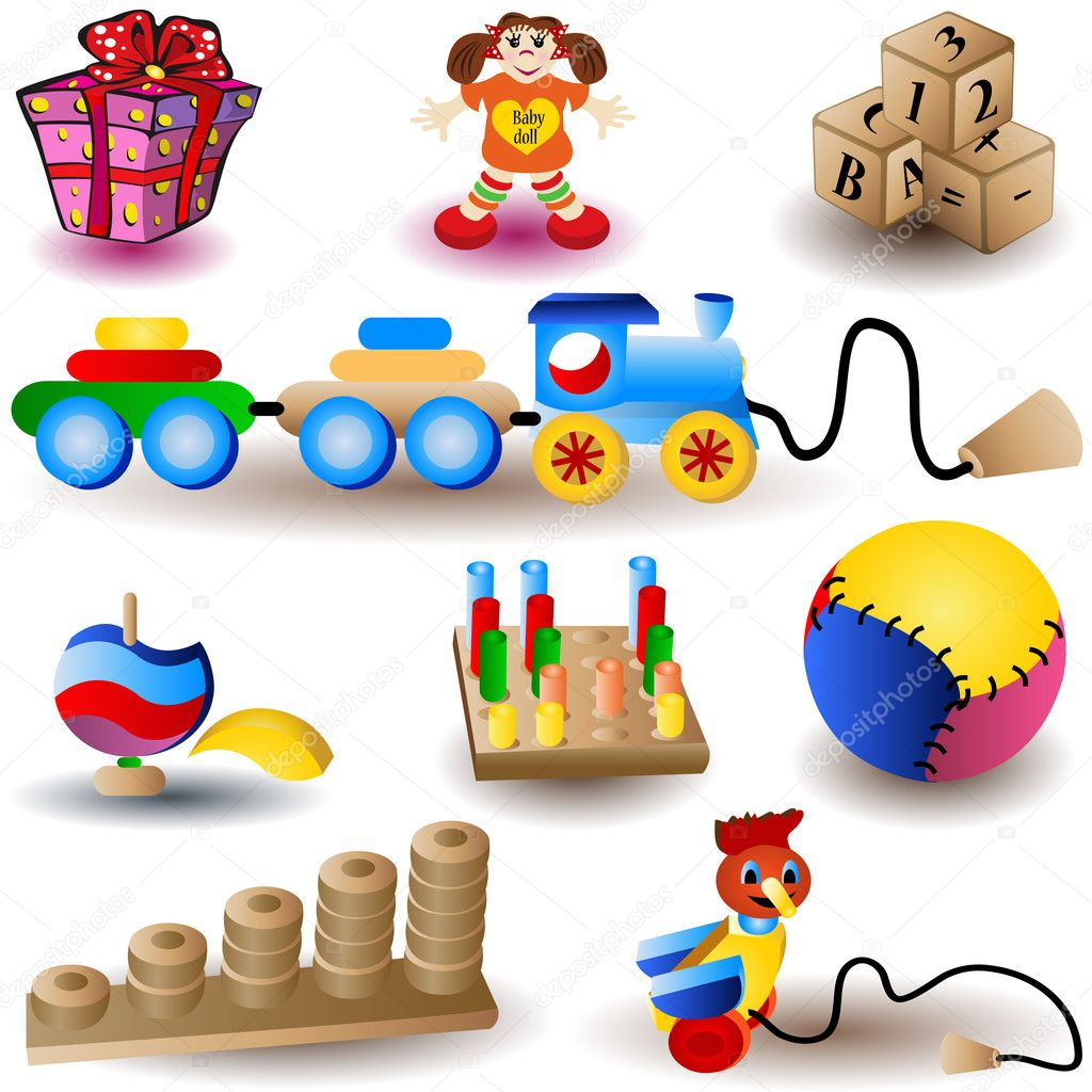 Toy Icons - part 1  Stock Vector #2868172