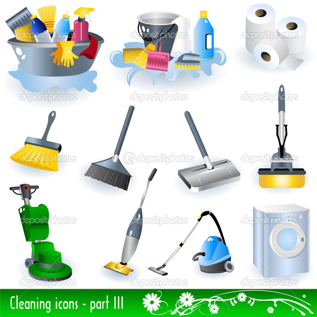 Collection of cleaning icons - part 3. — Stock Vector #2868246