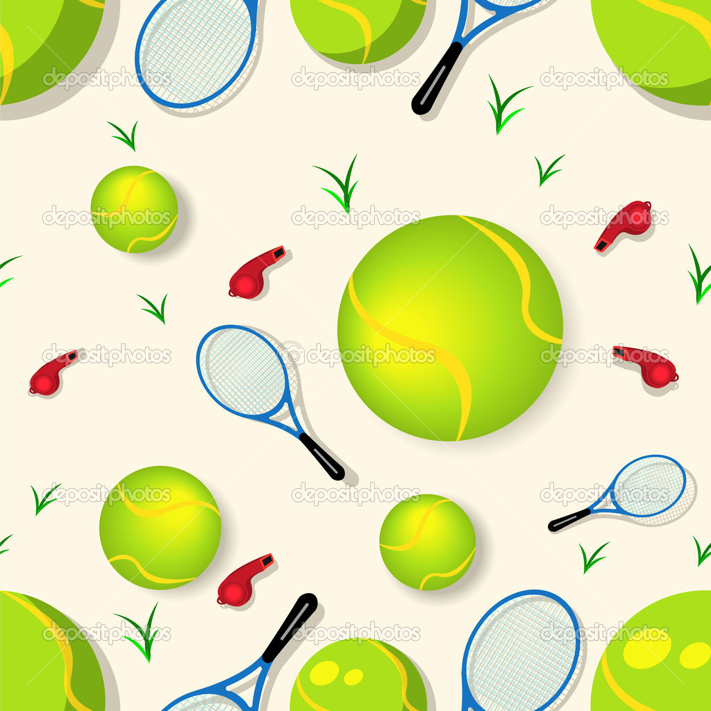 Vector illustration of a tennis seamless pattern — Stock Vector #2868801