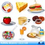 Breakfast images — Stock Vector