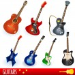 Stock Vector: Guitars