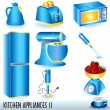 Stock Vector: Kitchen appliances 2