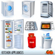 Kitchen appliances — Imagen vectorial