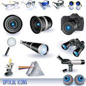 Optical icons — Stockvektor