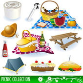 Picnic collection — Stock Vector