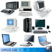 Computer icons 2 — Stock Vector