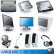 Computer icons 3 - Stock Vector