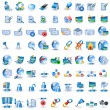 Lightblue network icons - Grafika wektorowa