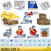 Business icons 6 — Stock Vector