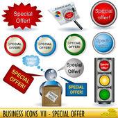 бизнес иконы 7 — Cтоковый вектор