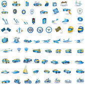 Light blue Transport icons — Stock Vector