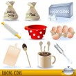 Stock Vector: Baking icons