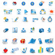 Portfolio icons — Stock Vector