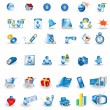 Stock Vector: Portfolio icons