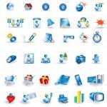 Portfolio icons — Stock Vector
