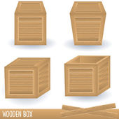 Wooden box — Stock Vector
