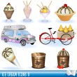 Ice creams icons 2 — Stock Vector